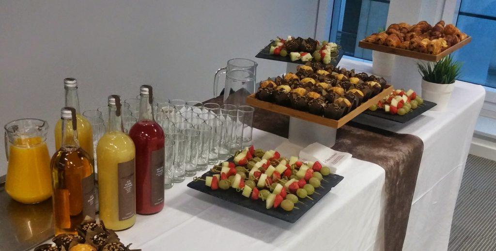 Plateaux gourmands buffets petit déjeuner ou pause