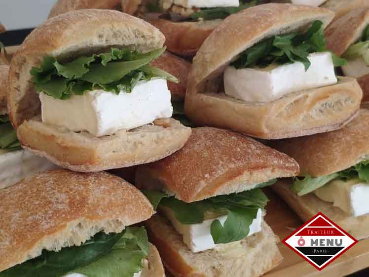 Sandwichs fromage buffet froid